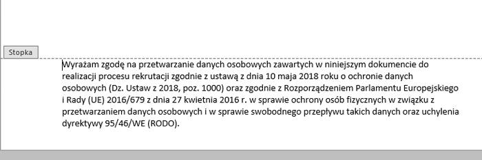 dc50dba895b697 aktualna klauzula w CV 2019 RODO w pliku DOCX